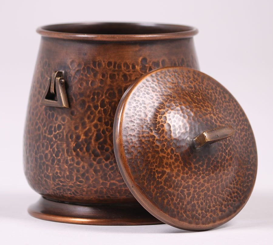 Arts & Crafts Hammered Copper Humidor - 3