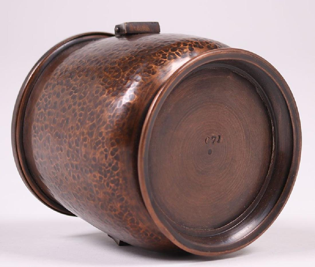 Arts & Crafts Hammered Copper Humidor - 4