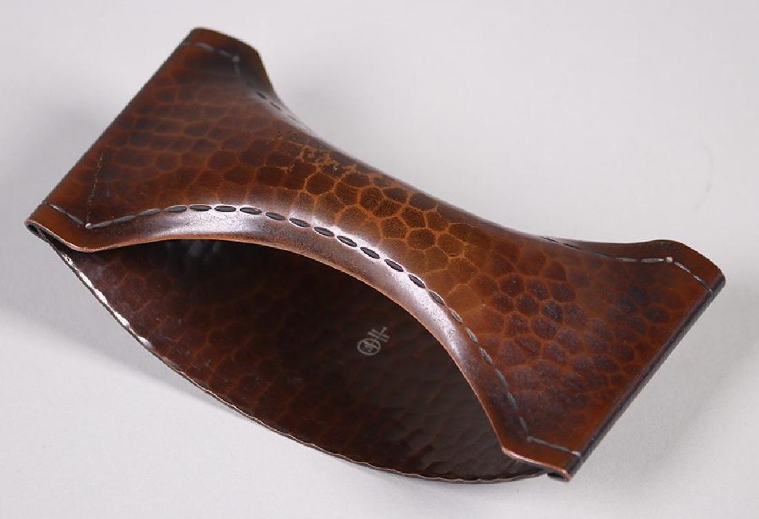 Roycroft Hammered Copper Rolling Blotter