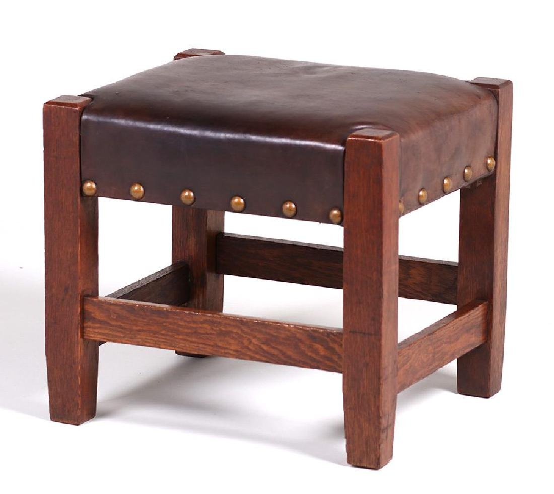 Large Arts & Crafts Footstool
