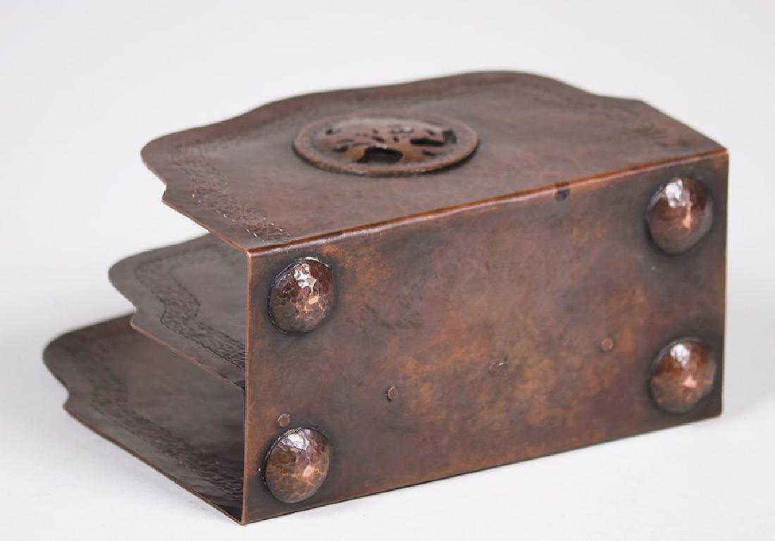 Student of Agatha van Erp Hammered Copper Letter Rack - 4