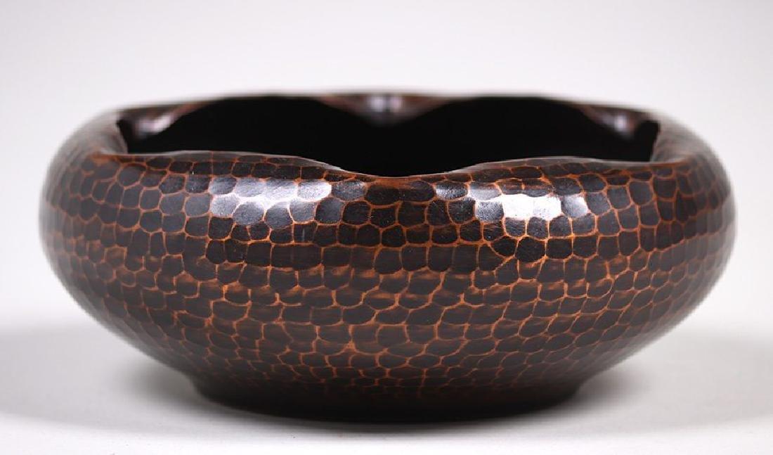 Roycroft Hammered Copper Bowl with Ruffled Rim