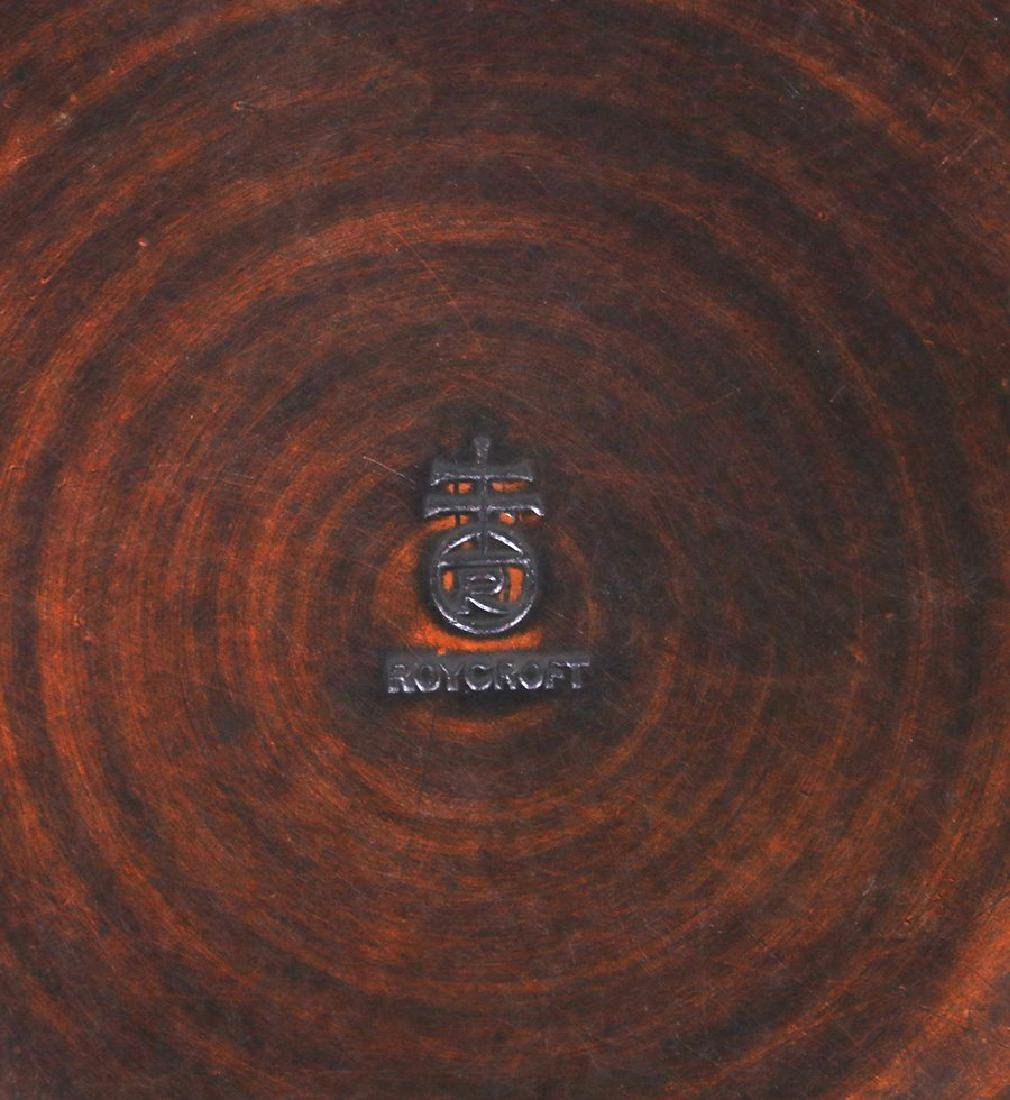 Roycroft Hammered Copper Bowl with Ruffled Rim - 4