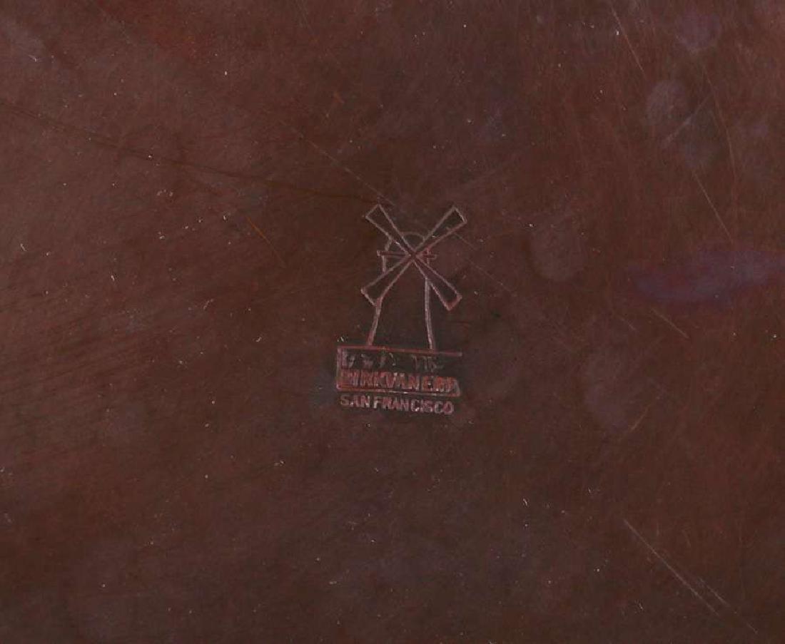 Dirk van Erp Hammered Copper Camelia Bowl - 2