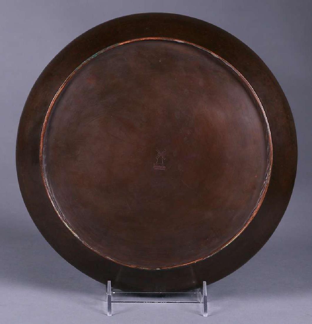 Dirk van Erp Hammered Copper Camelia Bowl - 3