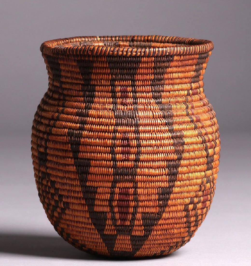 Native American Three-color Olla - Apache Tribe - 3