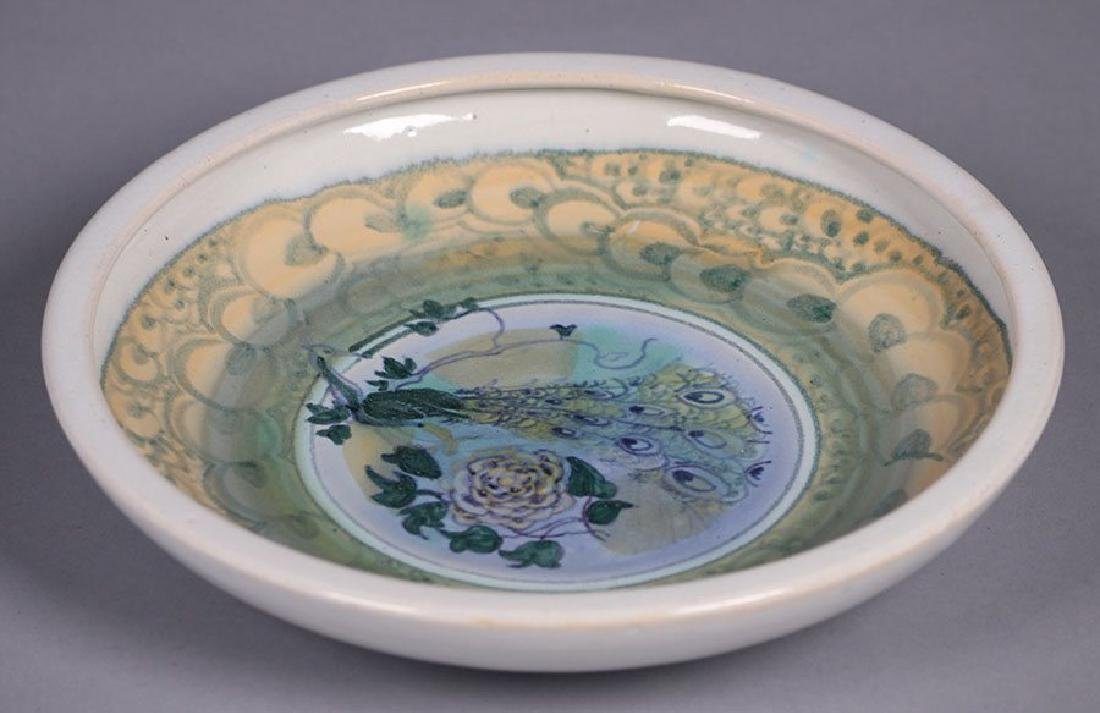Arequipa Pottery Decorated Bowl with Peacock Motif - 2