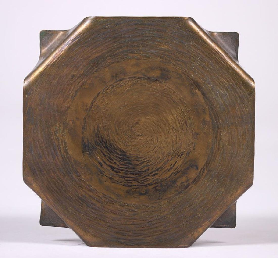 ETC Fish (Tioga, PA) Radial Hammered Copper Trivet
