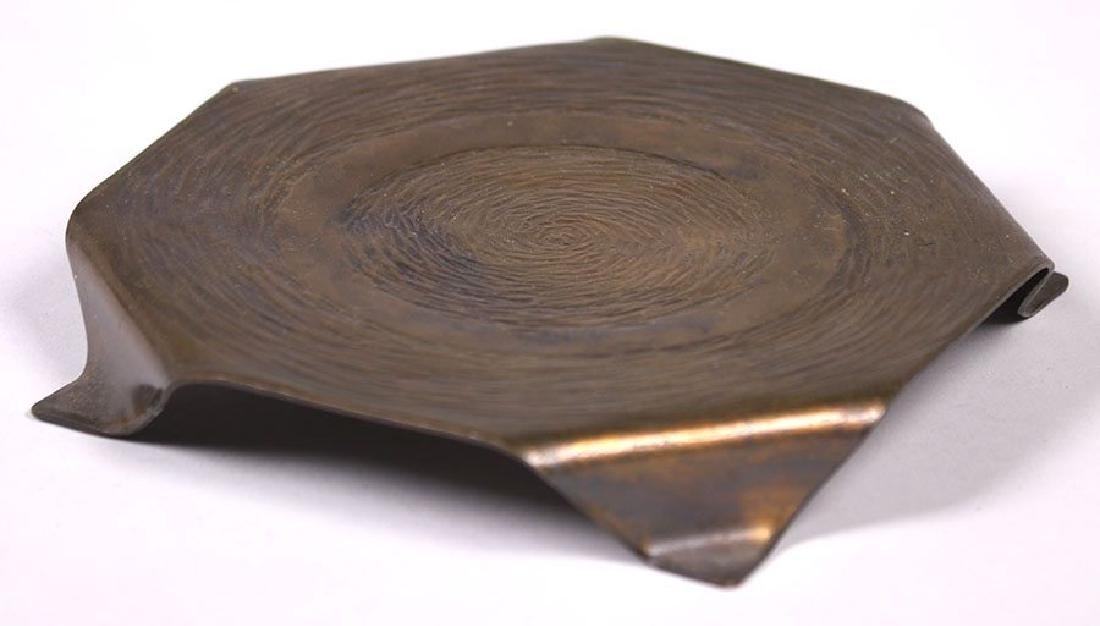 ETC Fish (Tioga, PA) Radial Hammered Copper Trivet - 2