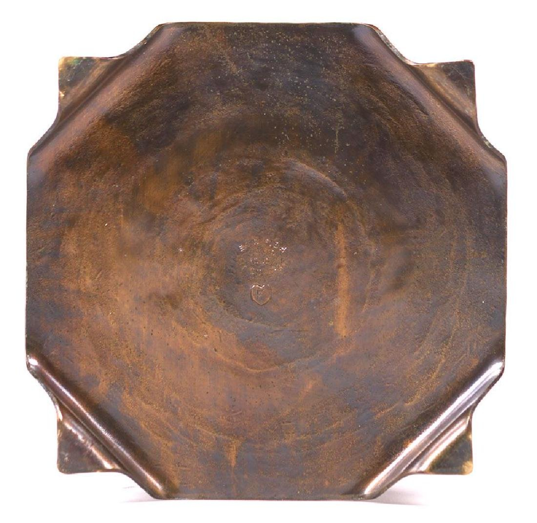 ETC Fish (Tioga, PA) Radial Hammered Copper Trivet - 3