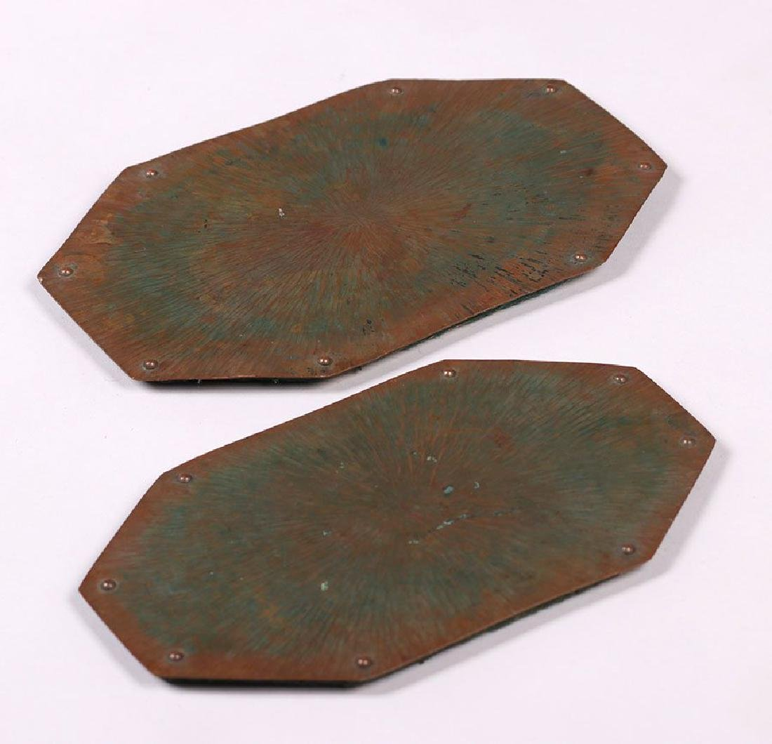 ETC Fish Radial Hammered Copper Trivets - lot of 2 - 2