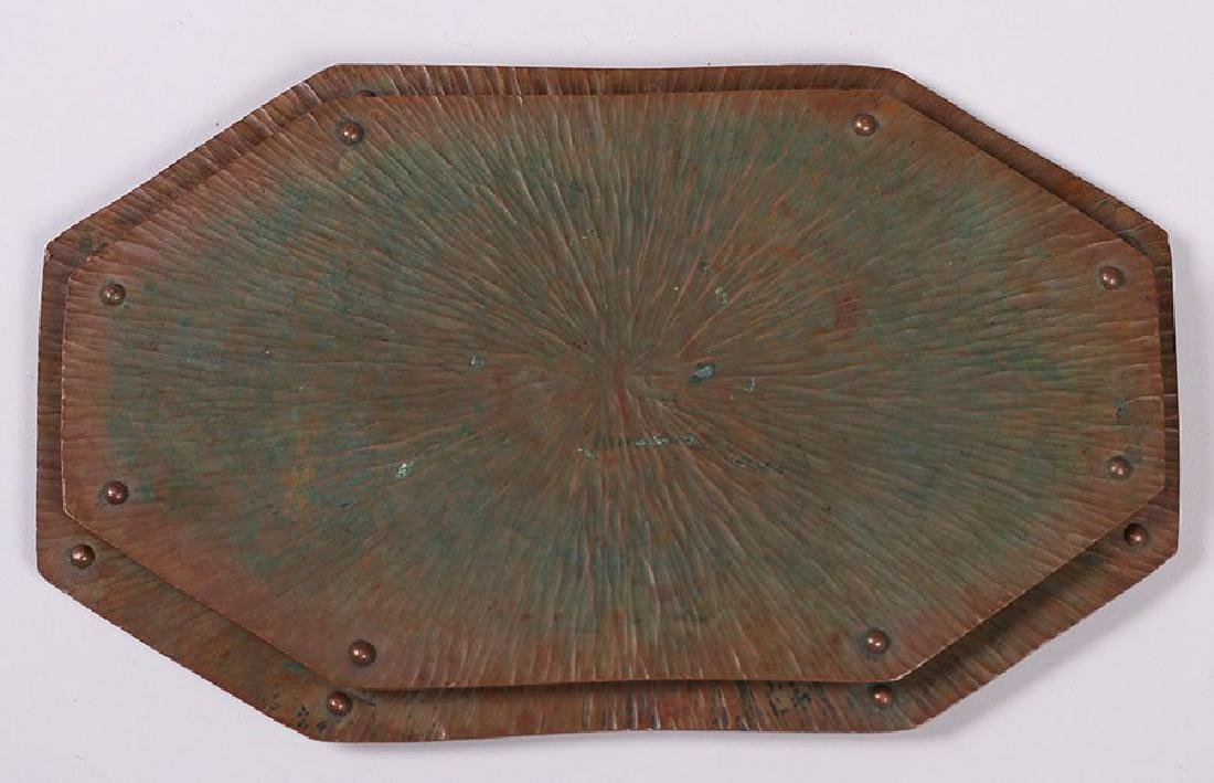 ETC Fish Radial Hammered Copper Trivets - lot of 2 - 3