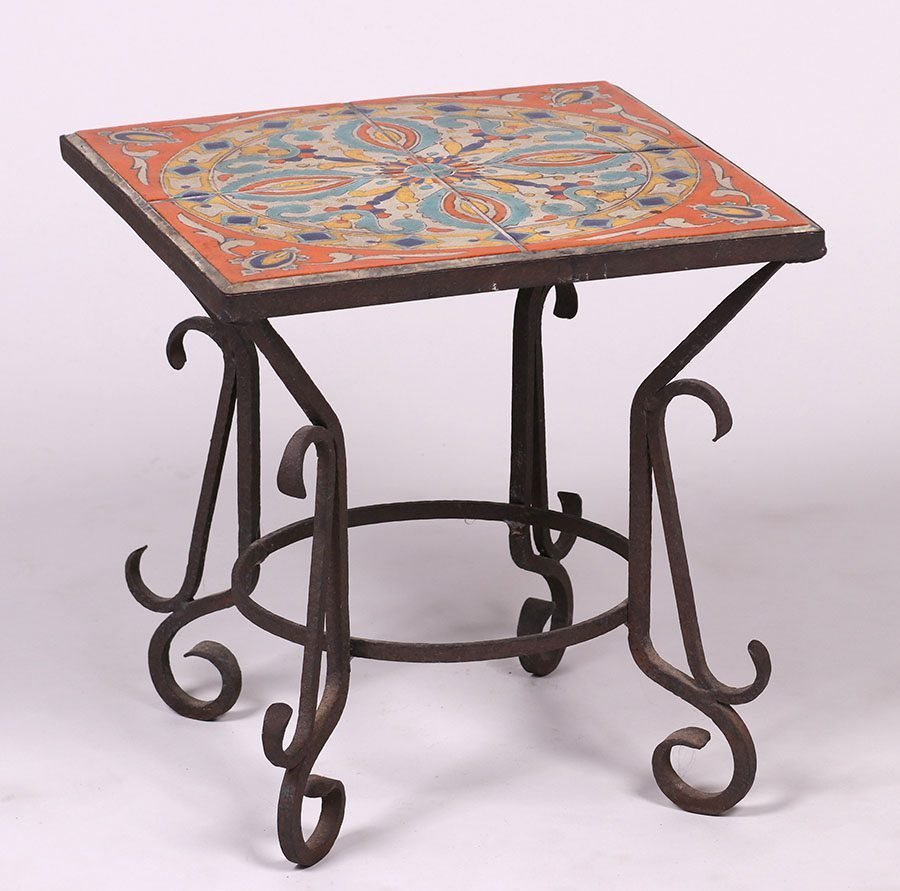 D & M Tile Co Spanish Revival Tile-Top Table c1928-1939