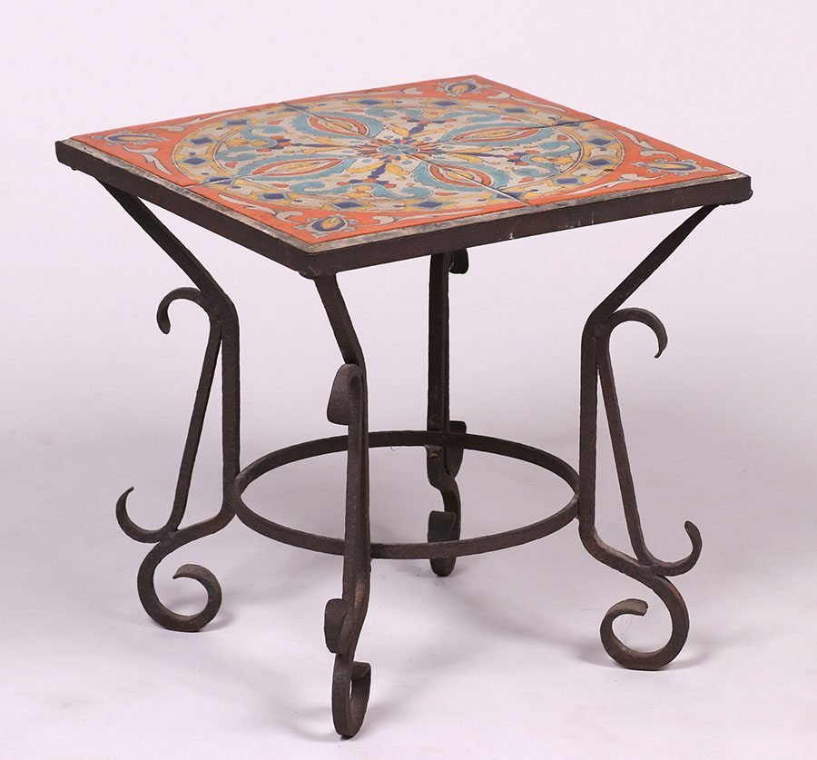D & M Tile Co Spanish Revival Tile-Top Table c1928-1939 - 2