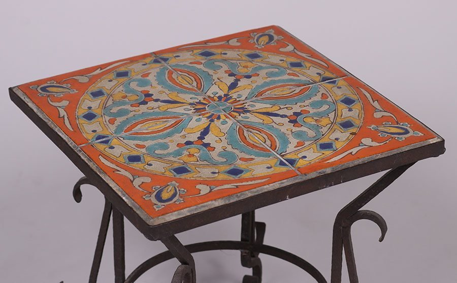 D & M Tile Co Spanish Revival Tile-Top Table c1928-1939 - 3