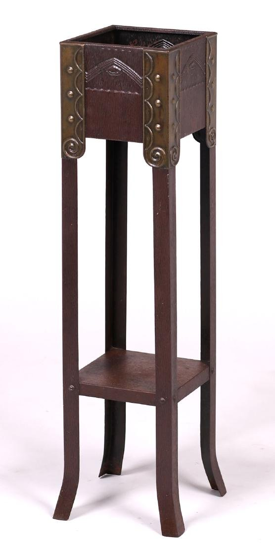 Vienna Secessionist Copper and Brass Plant Stand