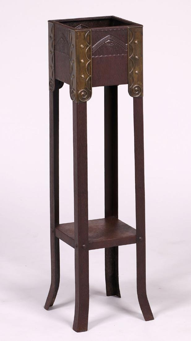 Vienna Secessionist Copper and Brass Plant Stand - 2