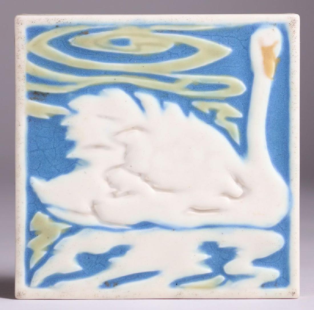 Rookwood Trivet Tile w/ Swan Dated 1925