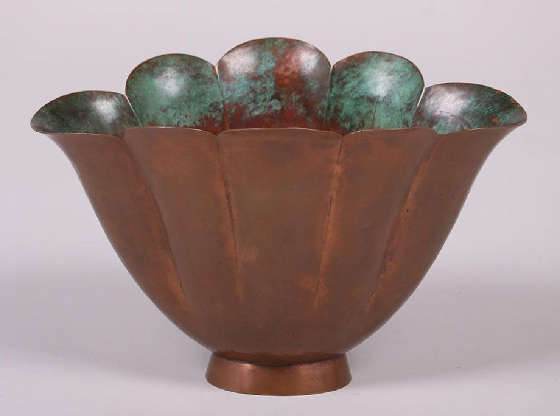 Marie Zimmerman Hammered Copper Flared Bowl