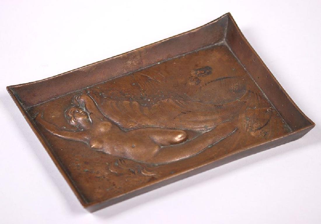 Clemens Friedell (Pasadena CA) Cast Bronze Tray w/ Nude - 3