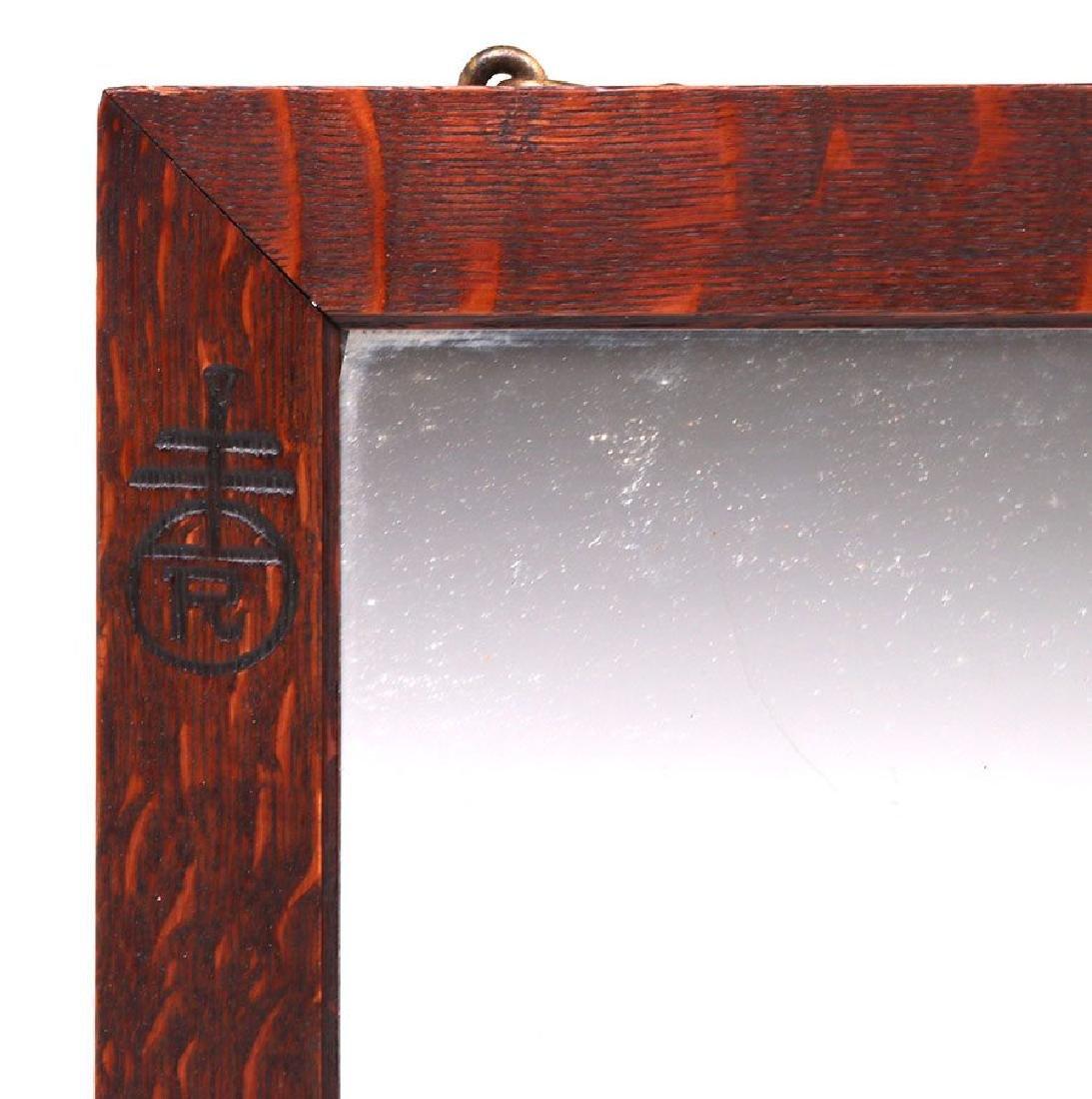 Roycroft Oak Mirror - 2