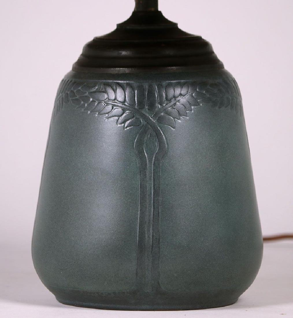 Marblehead Pottery Lamp Signed by Hannah Tutt - 3