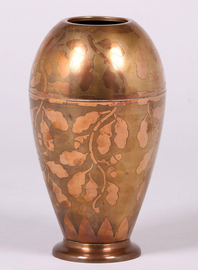 Art Deco Copper Vase c1920s