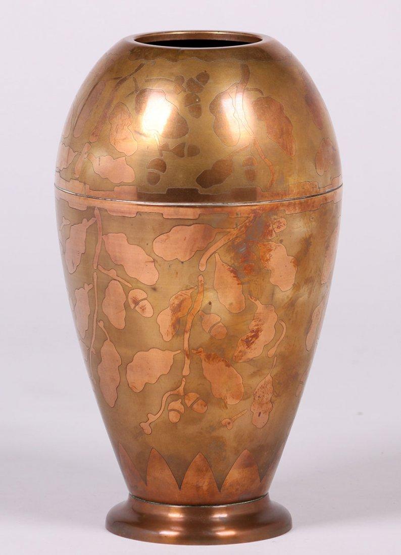 Art Deco Copper Vase c1920s - 2