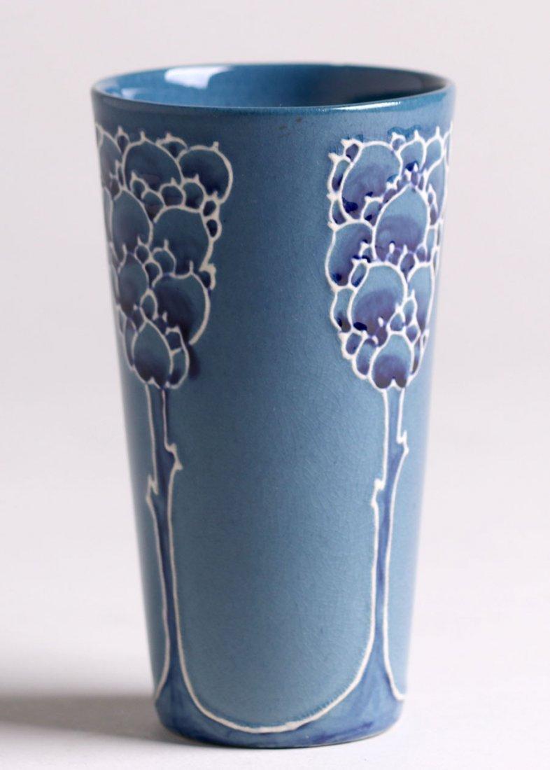 Weller Pottery - Rhead Faience Vase - 2