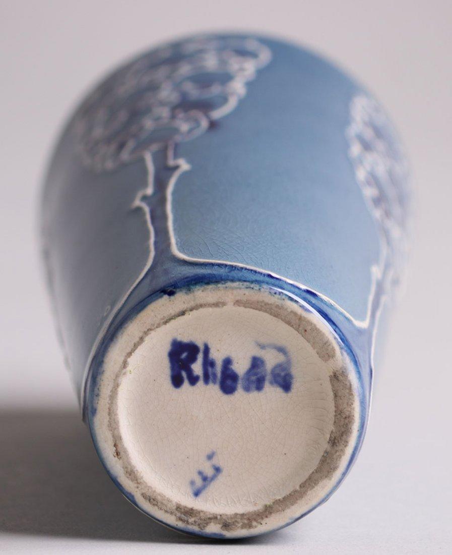 Weller Pottery - Rhead Faience Vase - 4