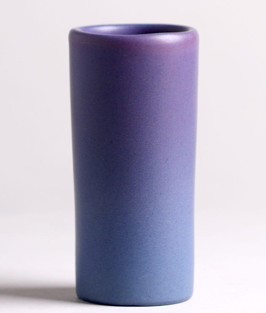 Van Briggle Purple Cylinder Vase