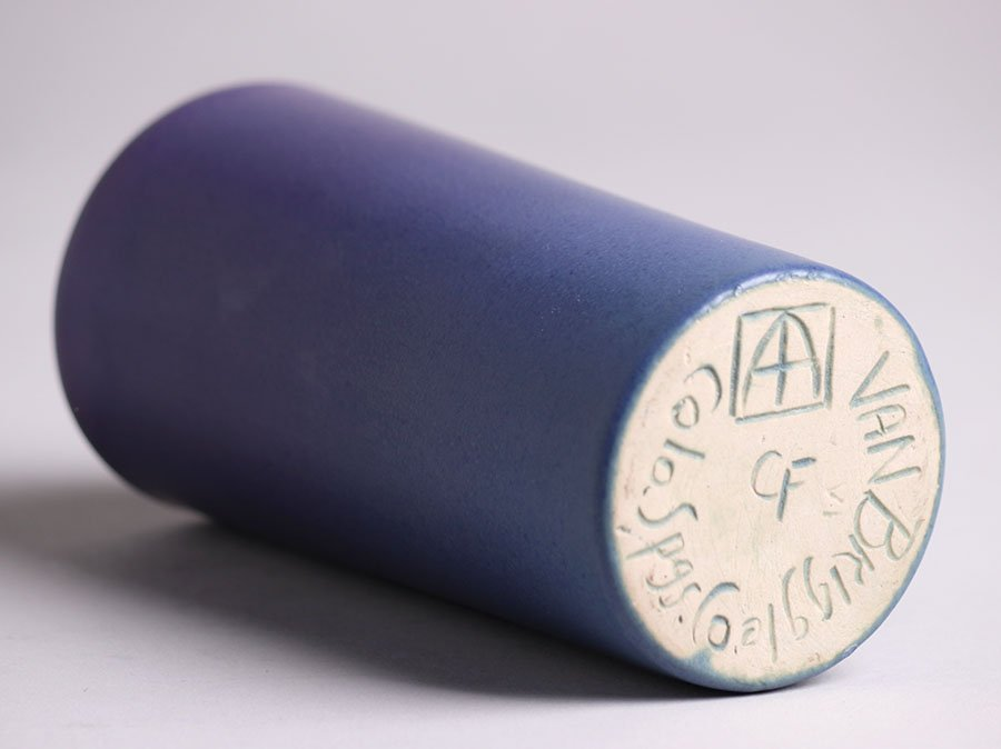 Van Briggle Purple Cylinder Vase - 2