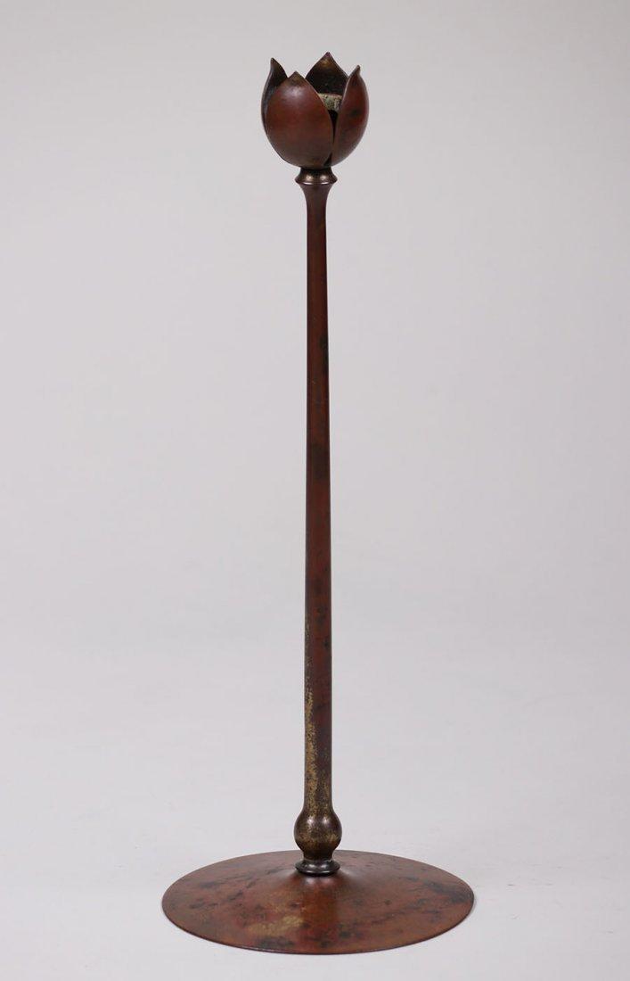 Heintz Bronze Candlestick c1912