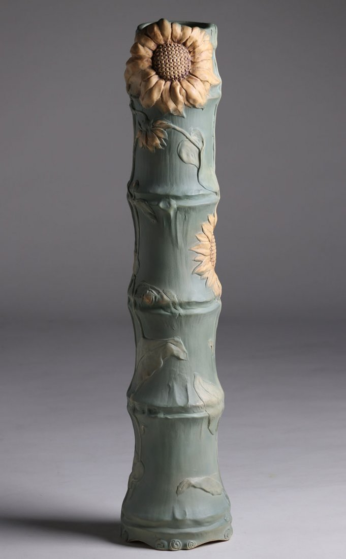 "Huge Weller Pottery L'Art Nouveau 34"" Floor Vase"