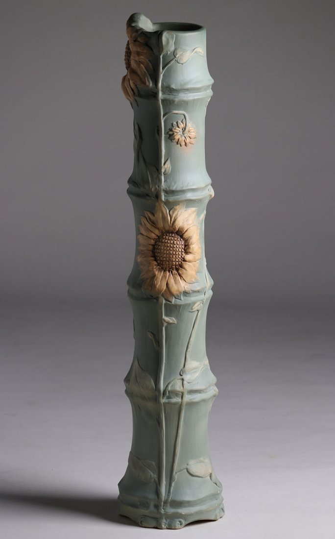 "Huge Weller Pottery L'Art Nouveau 34"" Floor Vase - 2"
