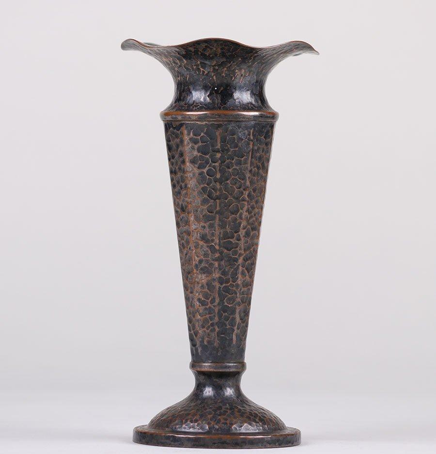 Joseph Heinrichs Hammered Copper Vase - 2