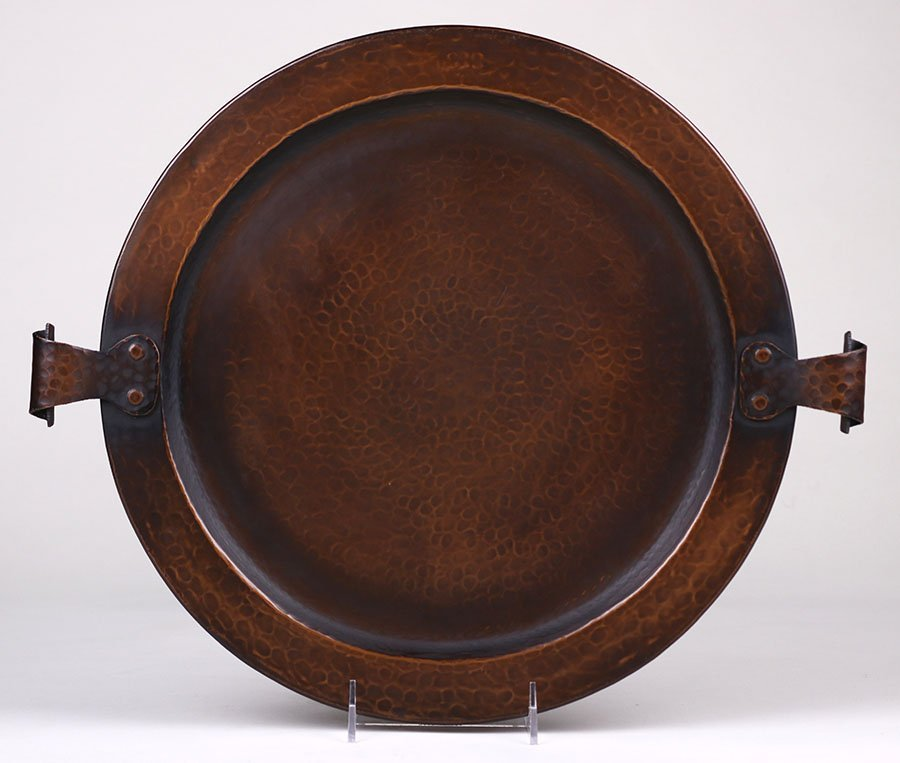 Stickley Brothers Hammered Copper Tray #223