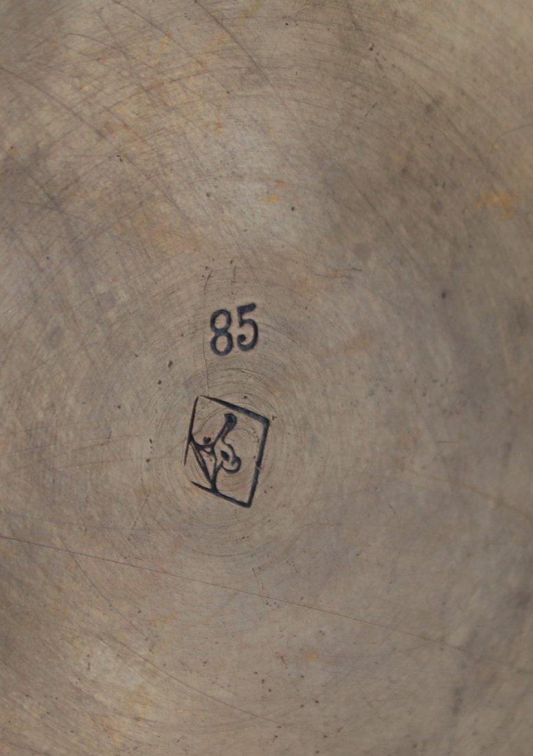 WMF Hammered Brass Tea Set c1910 - 4