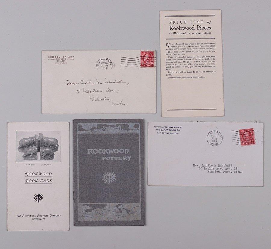 3 Original Rookwood Brochures + Weller & Newcomb
