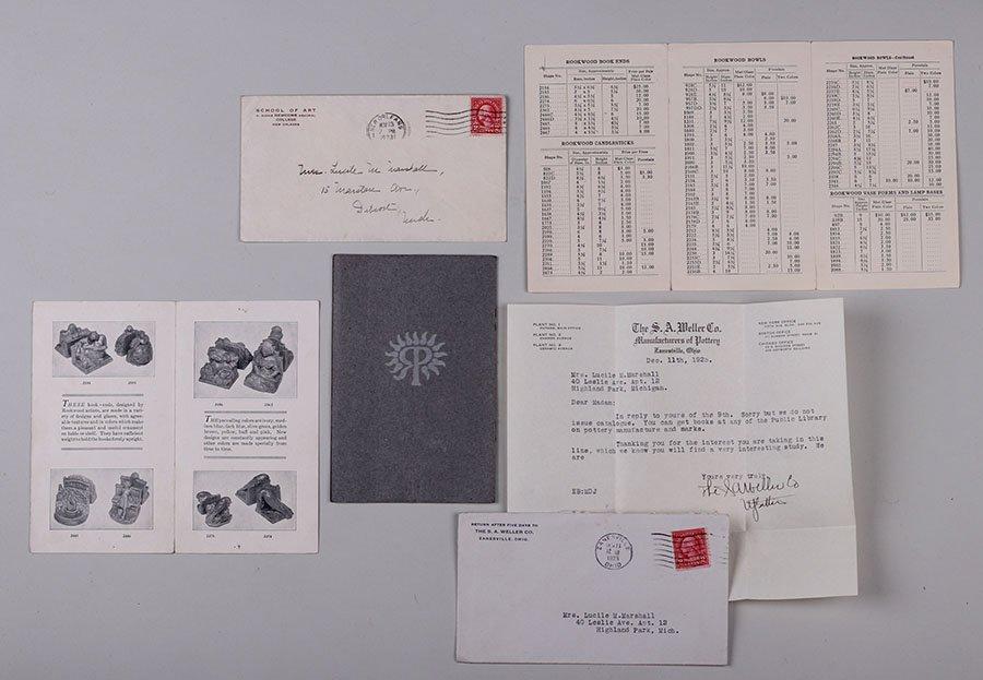 3 Original Rookwood Brochures + Weller & Newcomb - 5