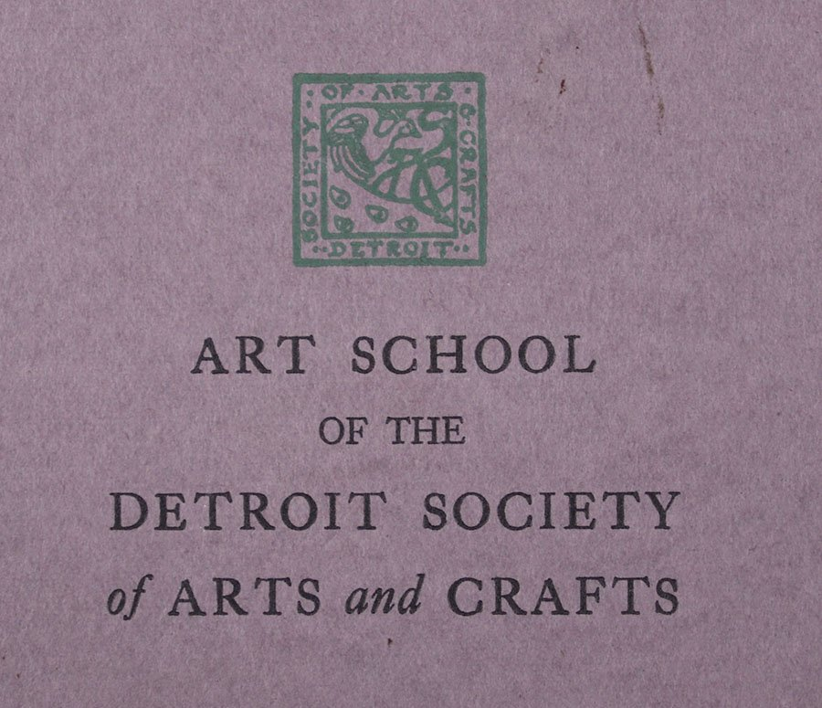 Art School of the Detroit Society of Arts & Crafts 1926