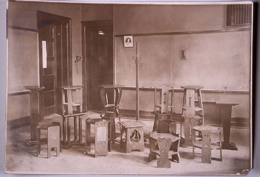 4 Photos of Furniture - Detroit Institute of Arts c1915
