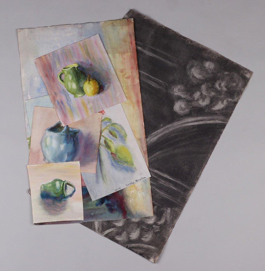 Lot of Misc. Watercolors & Charcoals c1910