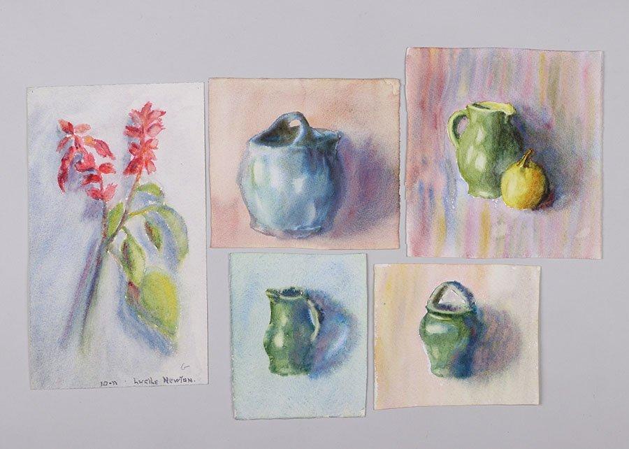 Lot of Misc. Watercolors & Charcoals c1910 - 2