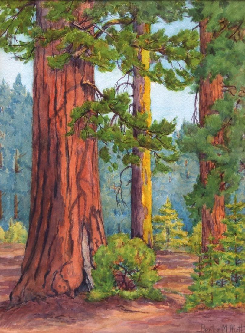 Bertha Hiatt Watercolor Yosemite
