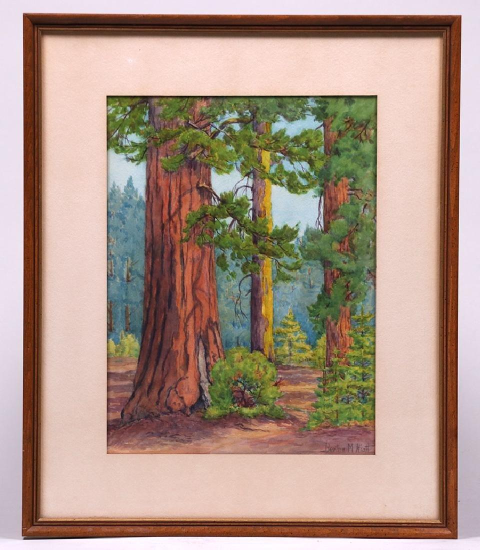 Bertha Hiatt Watercolor Yosemite - 2