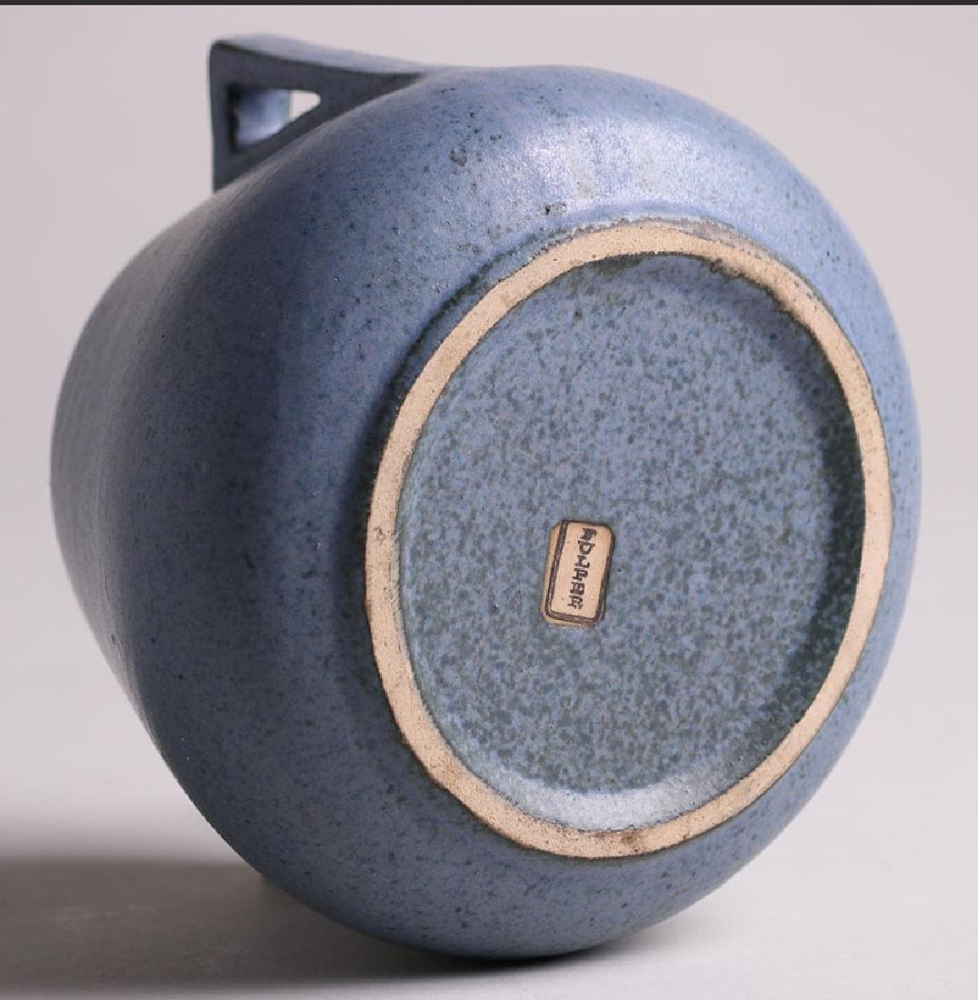 Fulper Pottery Two-Handled Matte Blue Vase - 4