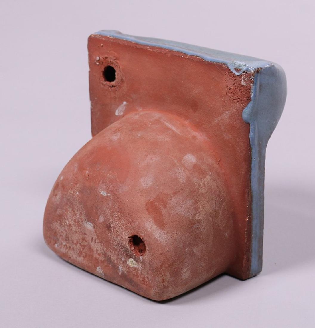 Grueby/Pardee Matte Blue Soap Dish Tile - 3