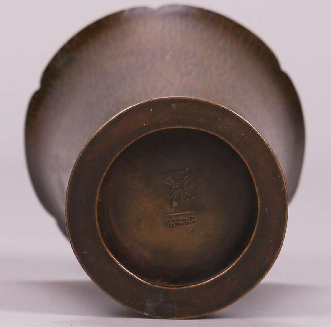 Dirk van Erp Hammered Brass Flared Vase - 3