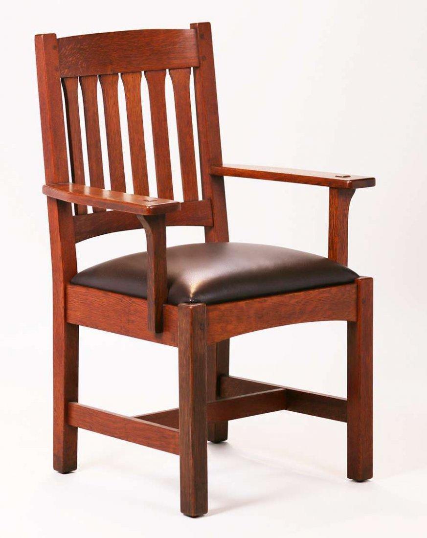 L&JG Stickley Arrow-back Armchair #32A